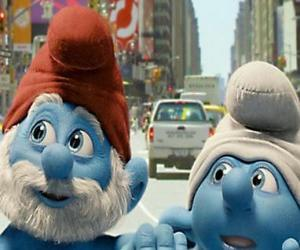 Papa Smurf and Clumsy Smurf, the streets of Manhattan. - The Smurfs Movie - puzzle
