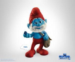 Papa Smurf is the oldest and the leader of the Smurf Village - The Smurfs Movie - puzzle