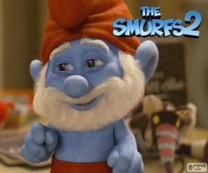 Papa Smurf, the leader of the Smurfs puzzle