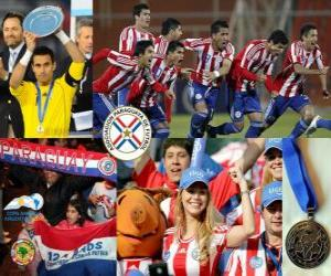 Paraguay, 2 nd place 2011 Copa America puzzle