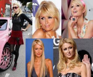 Paris Hilton is a socialite, author, model, actress, designer and singer. puzzle