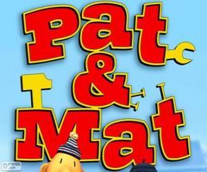 Pat and Mat Logo puzzle