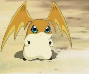 Patamon is the Digimon partner of TK, is a Digivolution of Potomon and Tokomon puzzle