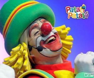 Patatá, one of the clowns from Patatí Patatá puzzle