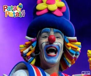 Patatí, one of the clowns from Patatí Patatá puzzle