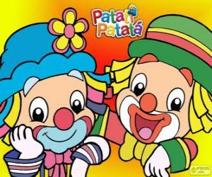 Patati and Patatá, the two clowns are great friends puzzle