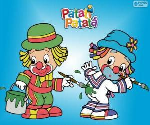 Patati Patatá the clowns, two painters puzzle