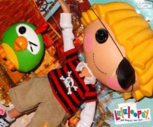 Patch Treasurechest from Lalaloopsy with his pet, a parrot puzzle