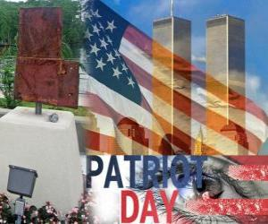 Patriot Day, September 11 in the United States, in memory of the attacks in September 11, 2001 puzzle