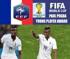Paul Pogba, young player award. Brazil 2014 Football World Cup puzzle
