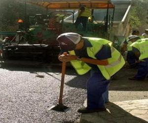 Paving workers puzzle