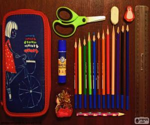 Pencil case school puzzle