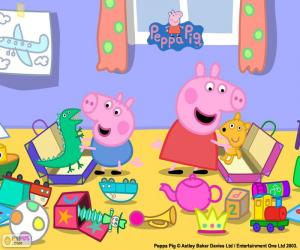 Peppa Pig and George puzzle