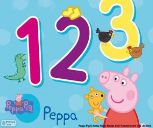 Peppa Pig and numbers puzzle