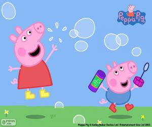 Peppa Pig and soap bubbles puzzle