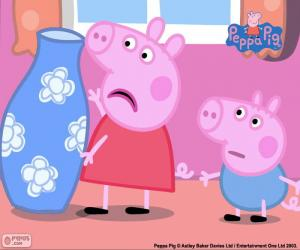 Peppa Pig and the blue vase puzzle