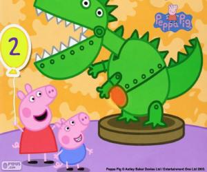 Peppa Pig and the dinosaur puzzle