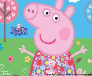 Peppa Pig flower dress puzzle