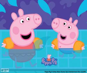 Peppa Pig goes swimming puzzle