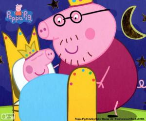 Peppa Pig in his bed puzzle