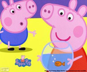 Peppa Pig mascot puzzle