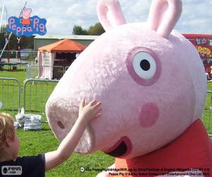 Peppa Pig with a child puzzle