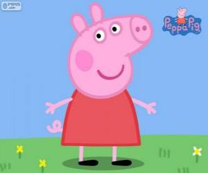Peppa Pig with a red dress puzzle