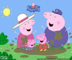 Peppa Pig with his grandparents puzzle