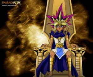 Pharaoh Atem, known as Yami, is the spirit of an ancient Pharaoh and Yugi's alter-ego puzzle