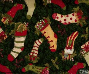 Picture of Christmas stockings and boots puzzle