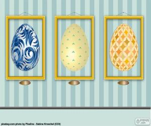 Pictures of Easter eggs puzzle