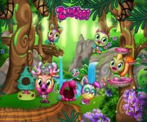 Pinegrove where the Zoobles hide, run, swim and play puzzle