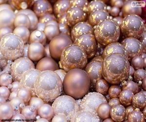 Pink Christmas balls puzzle