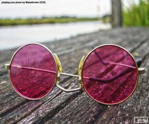 Pink sunglasses puzzle