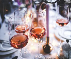 Pink wine glasses puzzle