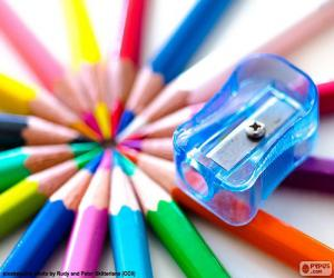 Plastic pencil sharpener puzzle
