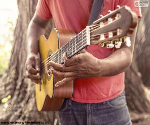 Playing the guitar puzzle