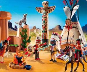 Playmobil Indian camp puzzle