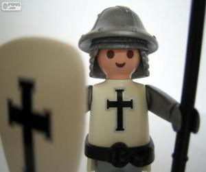 Playmobil medieval soldier puzzle
