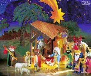 Playmobil Nativity scene puzzle