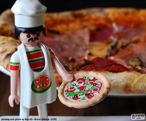 Playmobil pizza puzzle