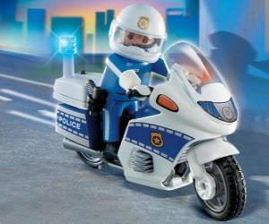 Playmobil police motorcycle puzzle