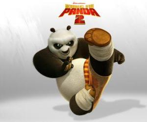 Po is the main protagonist of the adventures of the film Kung Fu Panda 2 puzzle