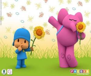 Pocoyo and Elly the Elephant puzzle
