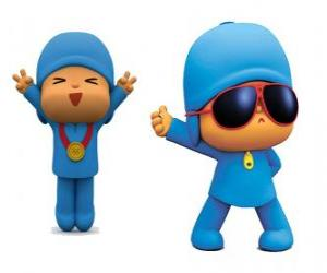 Pocoyo is a young boy, playful and fun who is discovering the world puzzle