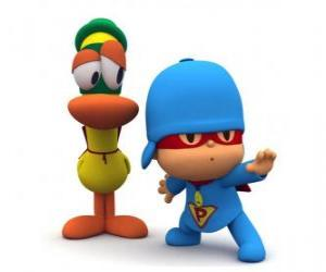Pocoyo with Pato puzzle