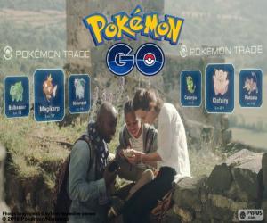 Pokémon GO trade puzzle