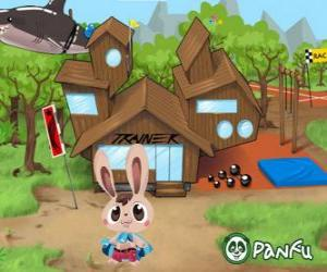 Pokopet Bugsy, a rabbit, a kind of pet from Panfu puzzle