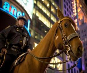 Police officer on horseback puzzle
