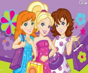 Polly Pocket shopping with her friends puzzle